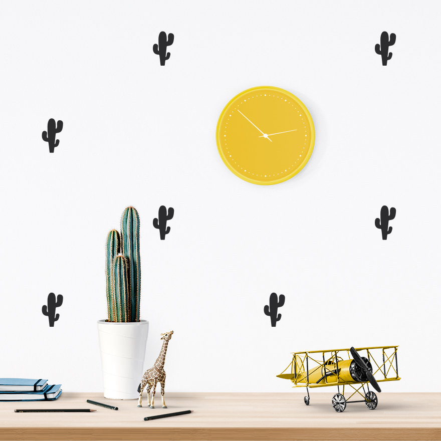JUSTa Sticker Cactus black - pattern wall decal