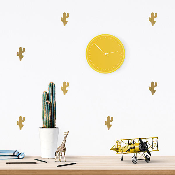 JUSTa Sticker Cactus gold - pattern wall decal