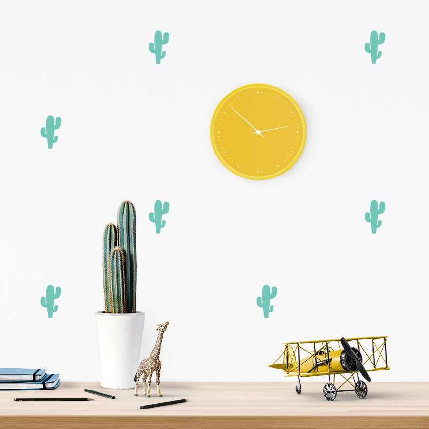 JUSTa Sticker Cactus mint - pattern wall decal