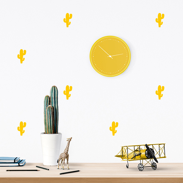 JUSTa Sticker Cactus yellow - pattern wall decal