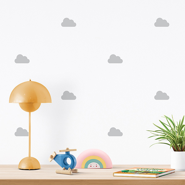 JUSTA Sticker Cloud grey - pattern wall decal