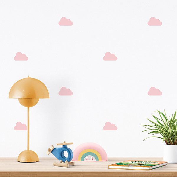JUSTA Sticker Cloud light pink - pattern wall decal