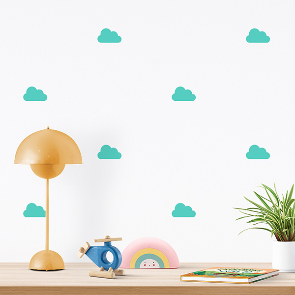 JUSTA Sticker Cloud mint - pattern wall decal