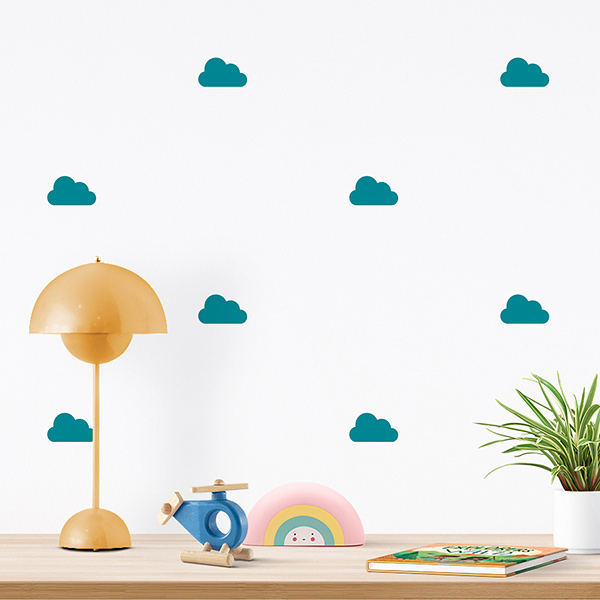 JUSTA Sticker Cloud turquoise - pattern wall decal