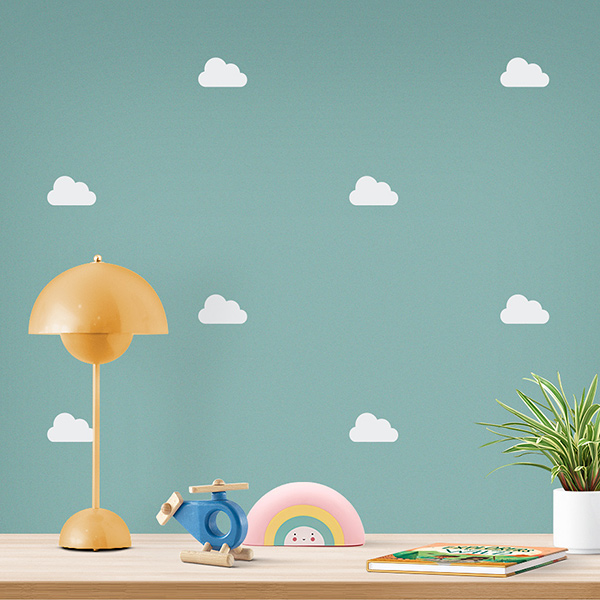 JUSTA Sticker Cloud white - pattern wall decal