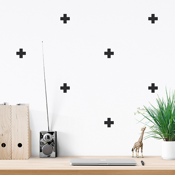 JUSTA Sticker Cross black - pattern wall decal