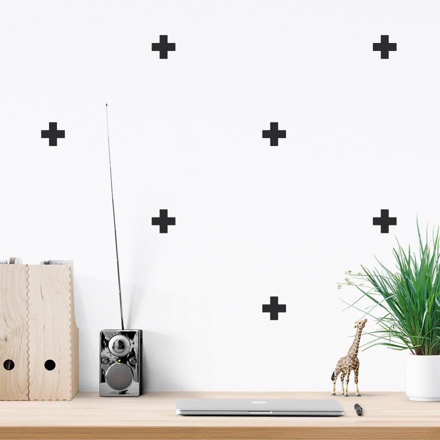 JUSTA Sticker Cross black - pattern wall decal