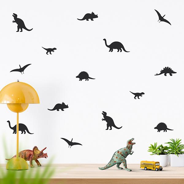JUSTA Sticker Dino black - wall decal set