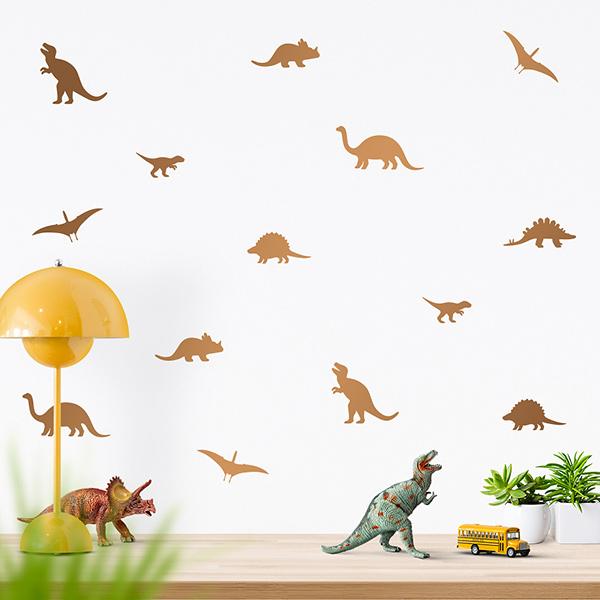 JUSTA Sticker Dino copper - wall decal set