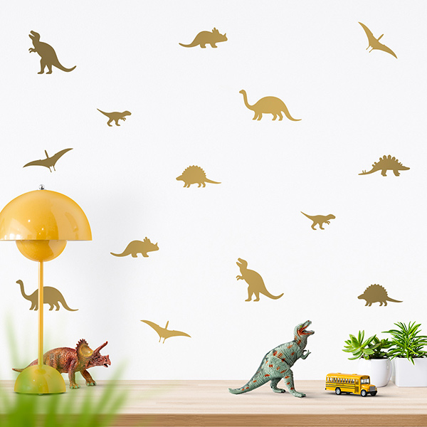 JUSTA Sticker Dino gold - wall decal set