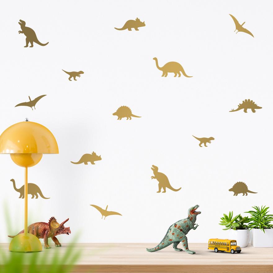 JUSTA Sticker Dino gold - wall decal set