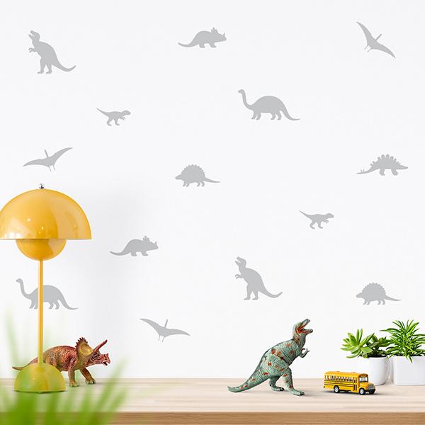 JUSTA Sticker Dino grey - wall decal set