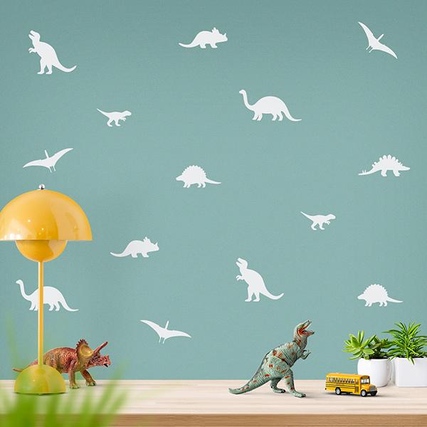 JUSTA Sticker Dino white - wall decal set