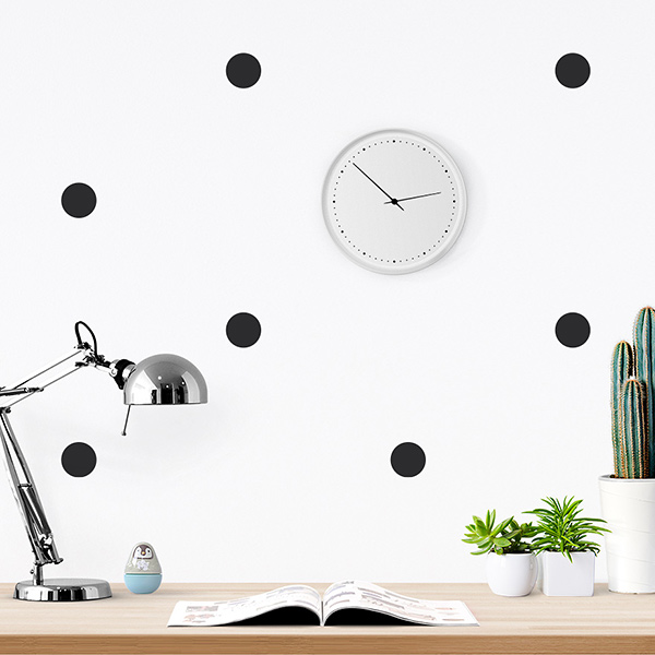 JUSTA Sticker Dot black - pattern wall decal