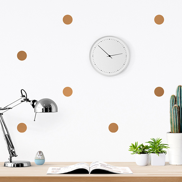 JUSTA Sticker Dot copper - pattern wall decal