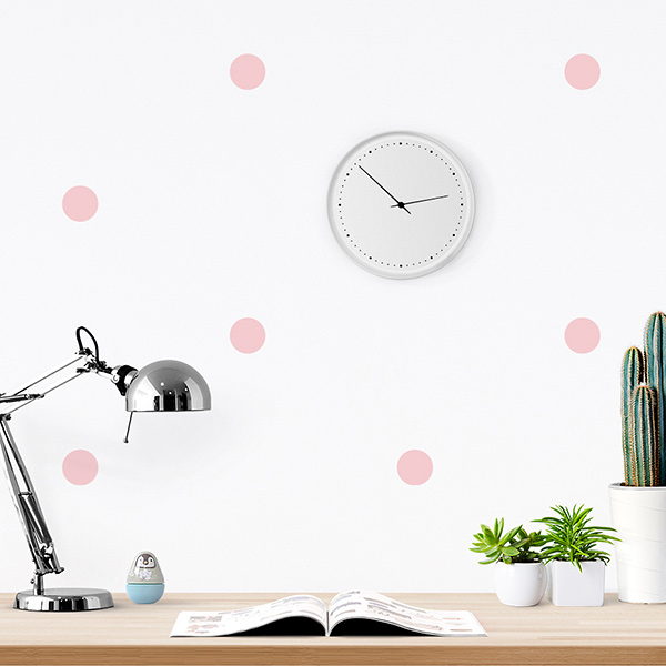 JUSTA Sticker Dot light pink - pattern wall decal