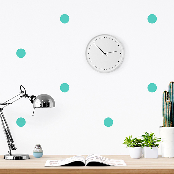 JUSTA Sticker Dot mint - pattern wall decal