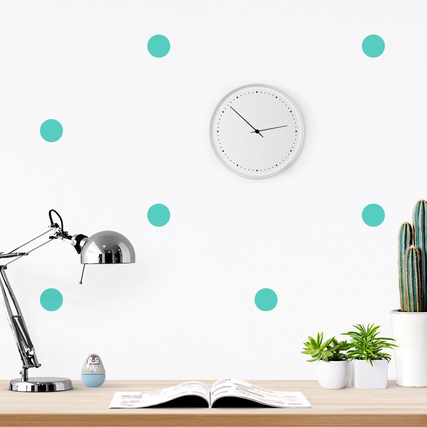 JUSTA Sticker Dot mint - pattern wall decal