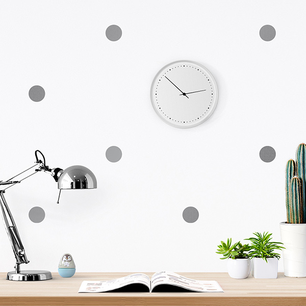 JUSTA Sticker Dot silver - pattern wall decal