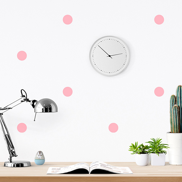 JUSTA Sticker Dot pink - pattern wall decal