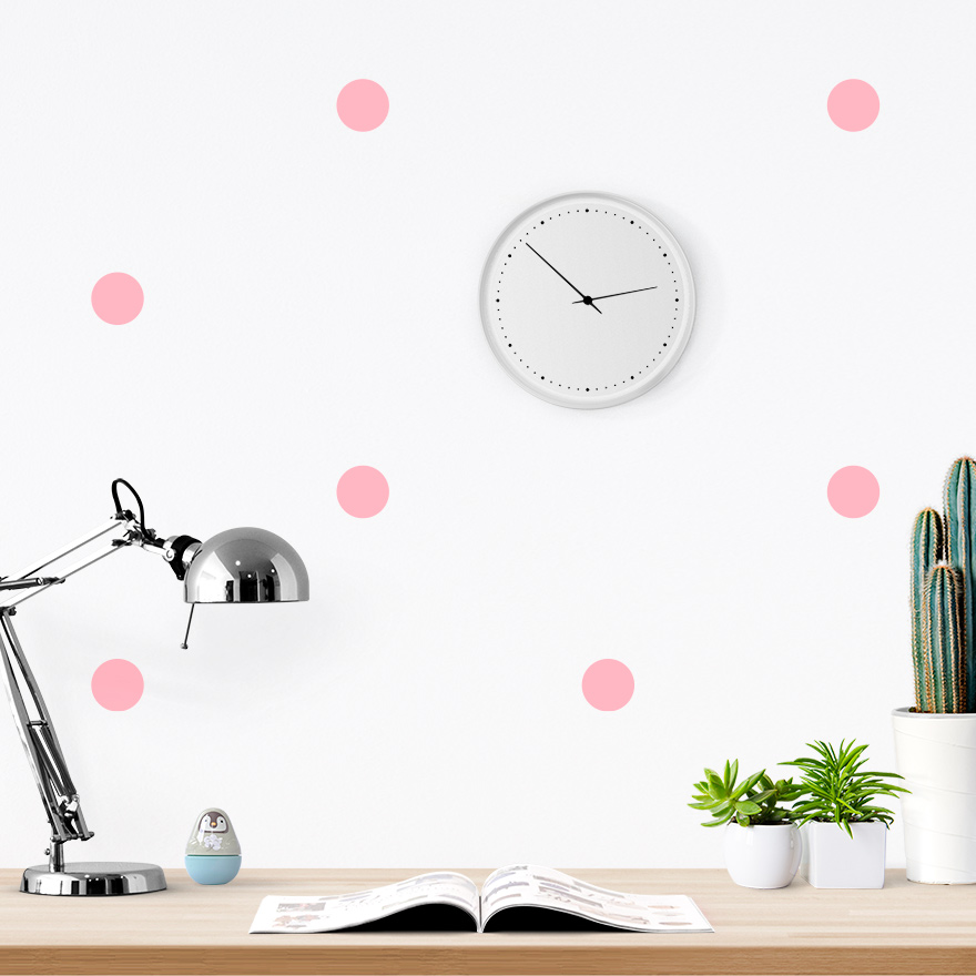 JUSTA Sticker Dot pink - pattern wall decal