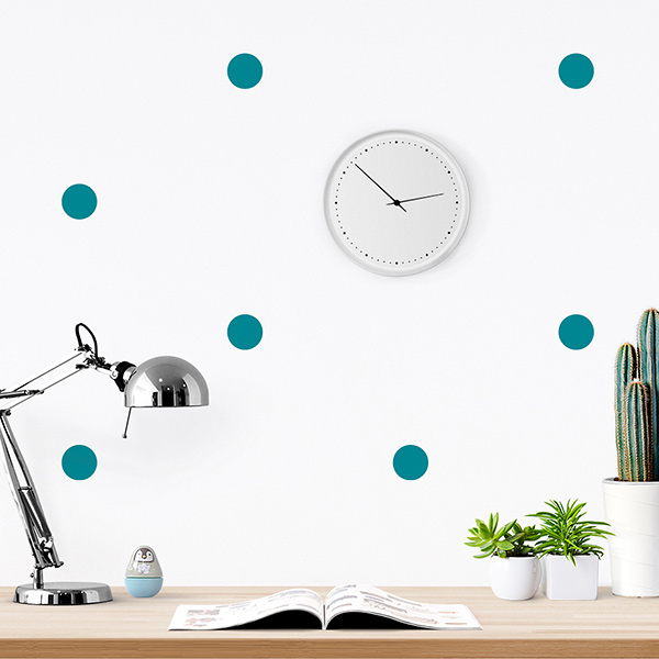 JUSTA Sticker Dot turquoise - pattern wall decal