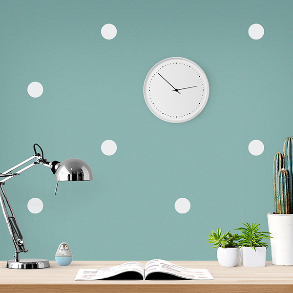 JUSTA Sticker Dot white - pattern wall decal