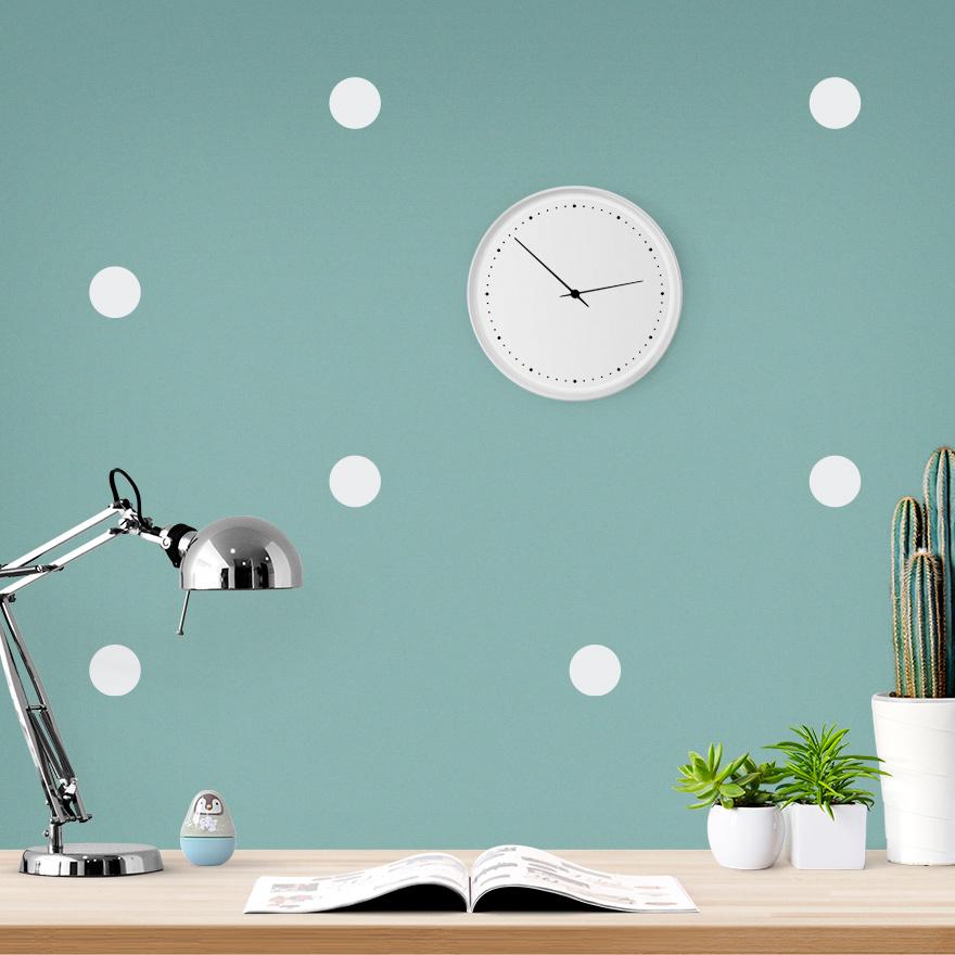 JUSTA Sticker Dot white - pattern wall decal
