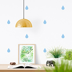 JUSTA Sticker Drop pastel blue - pattern wall decal