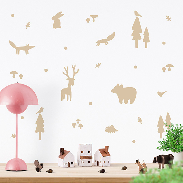 JUSTA Sticker Forest beige - wall decal set