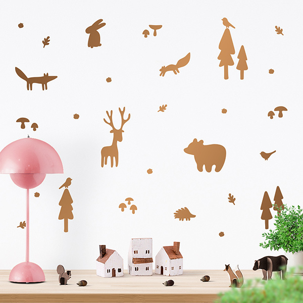 JUSTA Sticker Forest copper - wall decal set