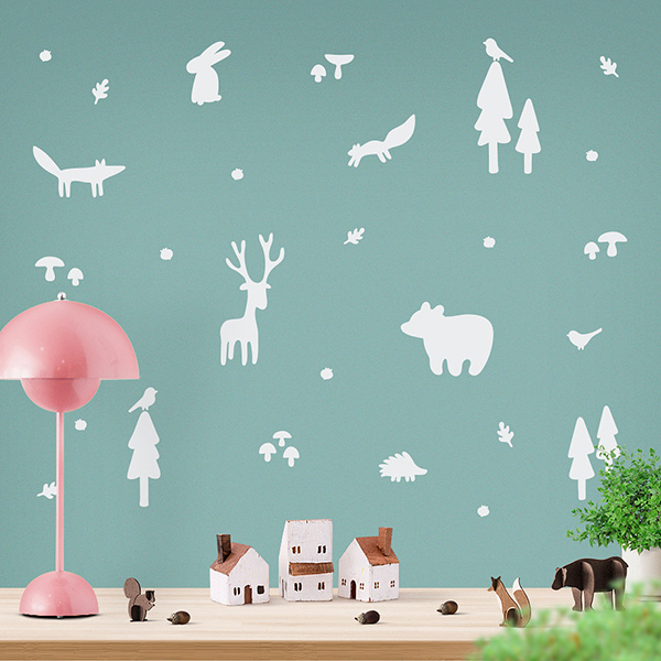 JUSTA Sticker Forest white - wall decal set