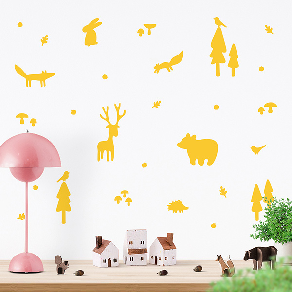 JUSTA Sticker Forest yellow - wall decal set