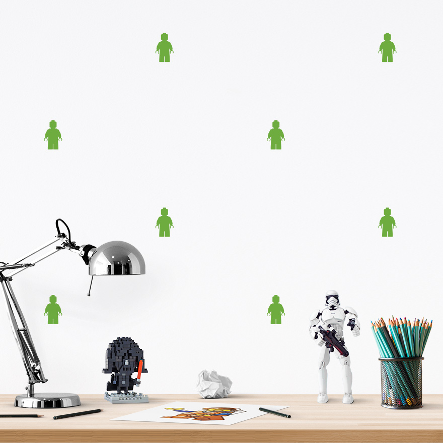 JUSTA Sticker Lego lime green - pattern wall decal
