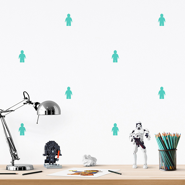 JUSTA Sticker Lego mint - pattern wall decal