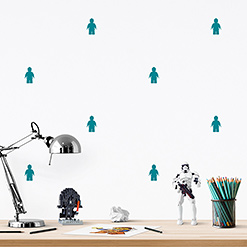 JUSTA Sticker Lego turquoise - pattern wall decal