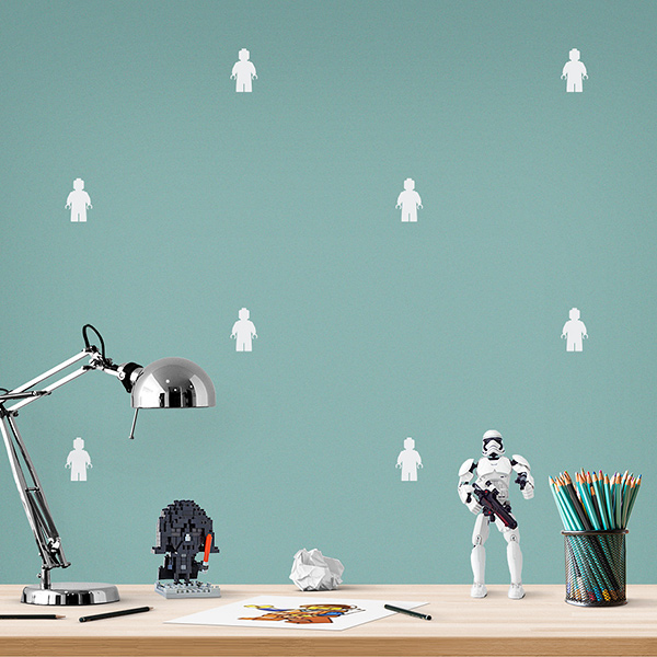 JUSTA Sticker Lego white - pattern wall decal