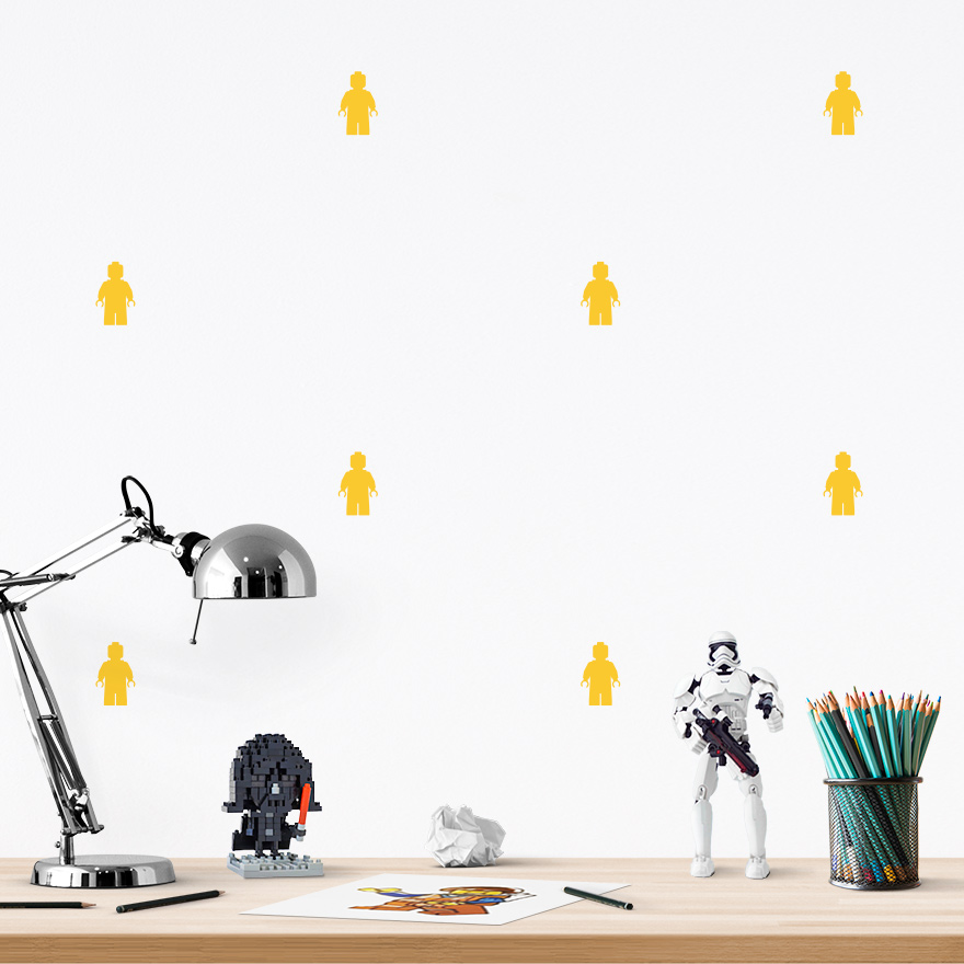 JUSTA Sticker Lego yellow - pattern wall decal