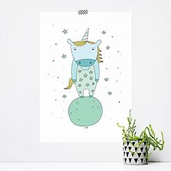 JUSTa Print STARRY UNICORN - A4 graphic design