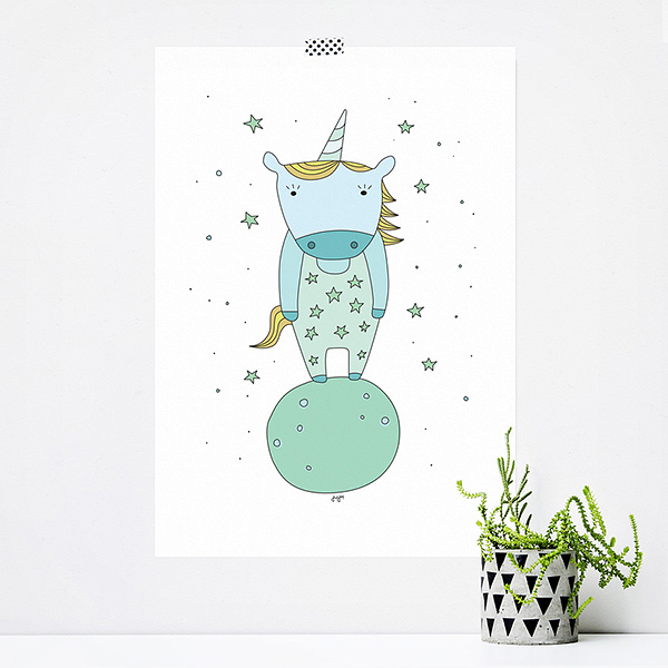 JUSTa Print STARRY UNICORN - A4 graphic design