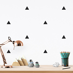 JUSTA Sticker Triangle black - pattern wall decal