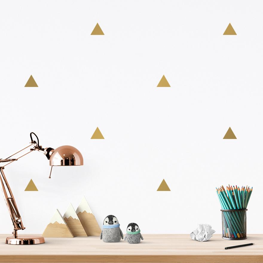 JUSTA Sticker Triangle gold - pattern wall decal