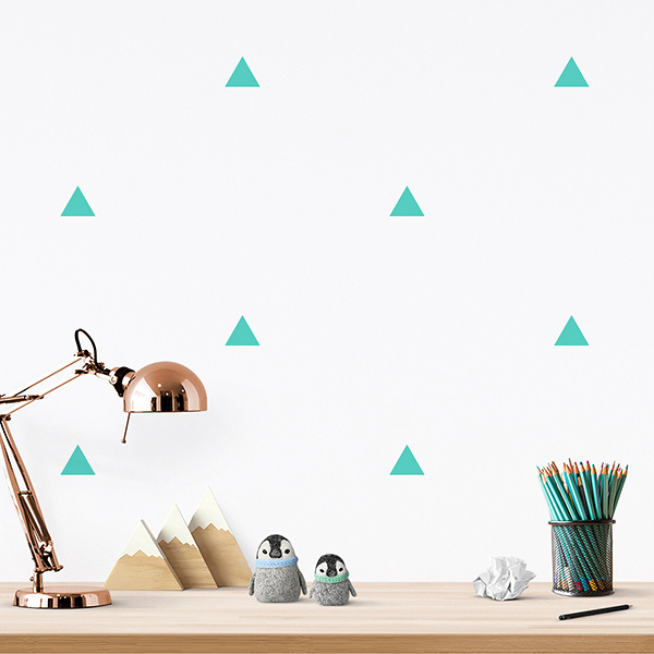 JUSTA Sticker Triangle mint - pattern wall decal