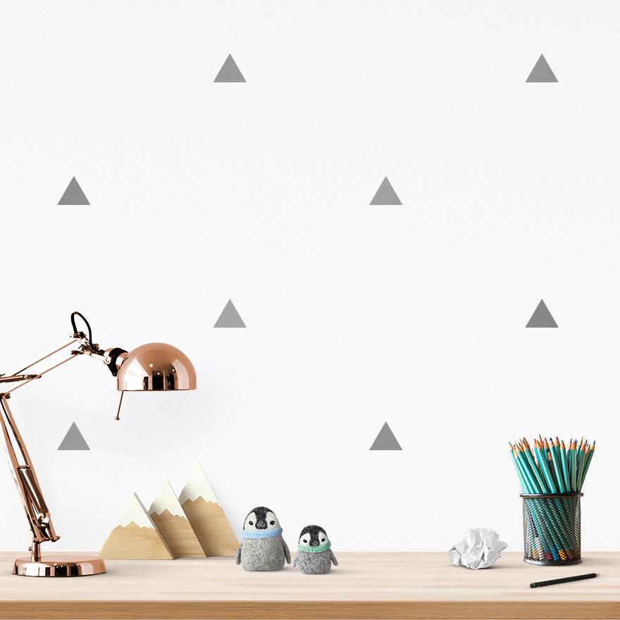 JUSTA Sticker Triangle silver - pattern wall decal