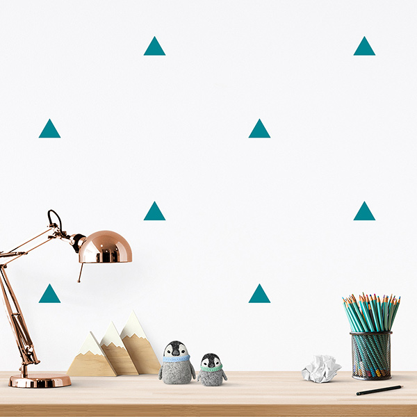 JUSTA Sticker Triangle tuquoise - pattern wall decal
